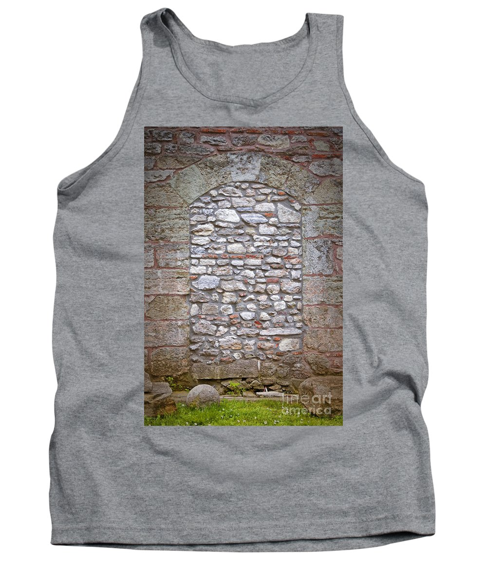 Hagia Tank Top featuring the photograph Bricked Up Doorway by Antony McAulay