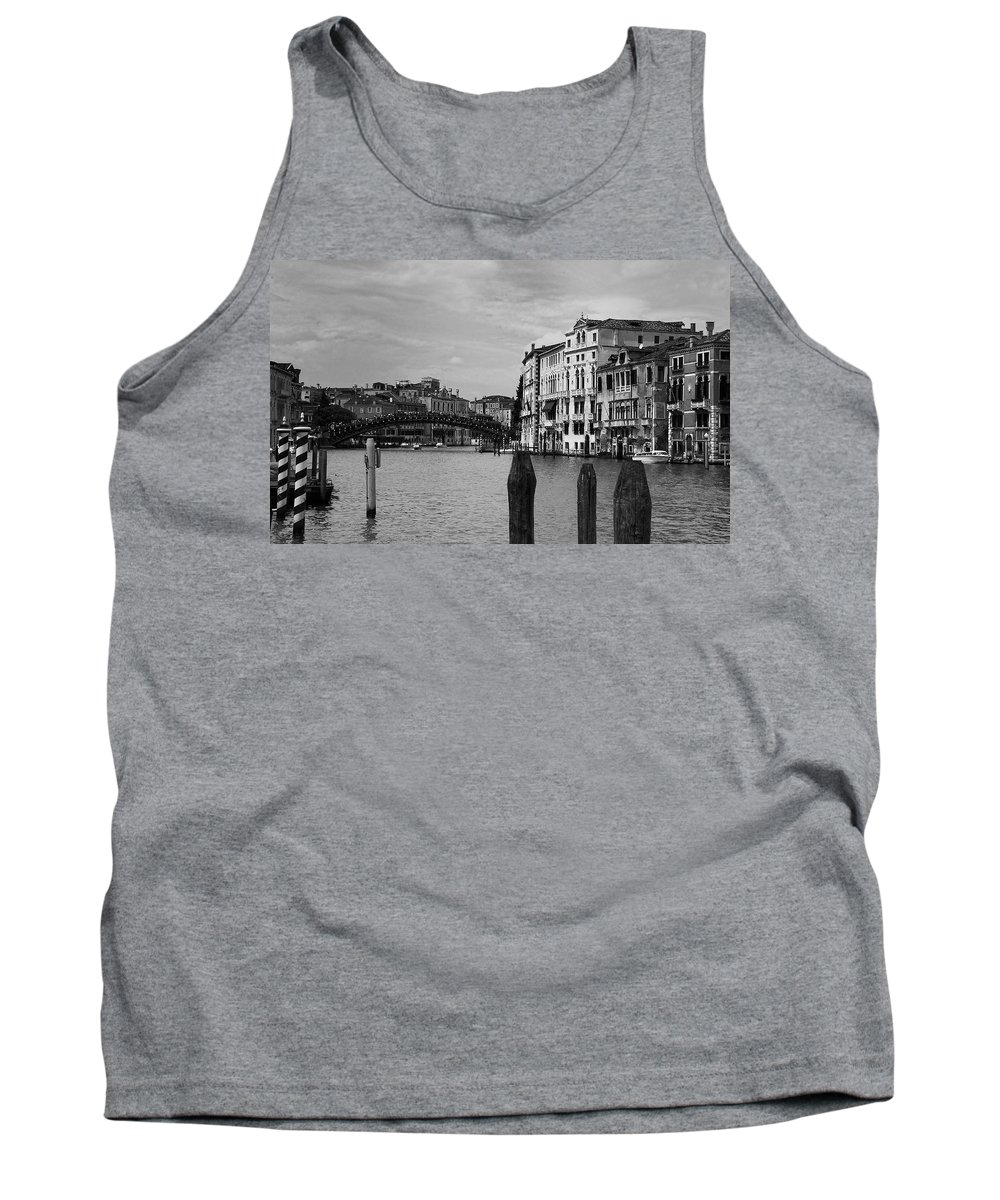 Venice Tank Top featuring the photograph Bridge In The Gran Canal by David Resnikoff
