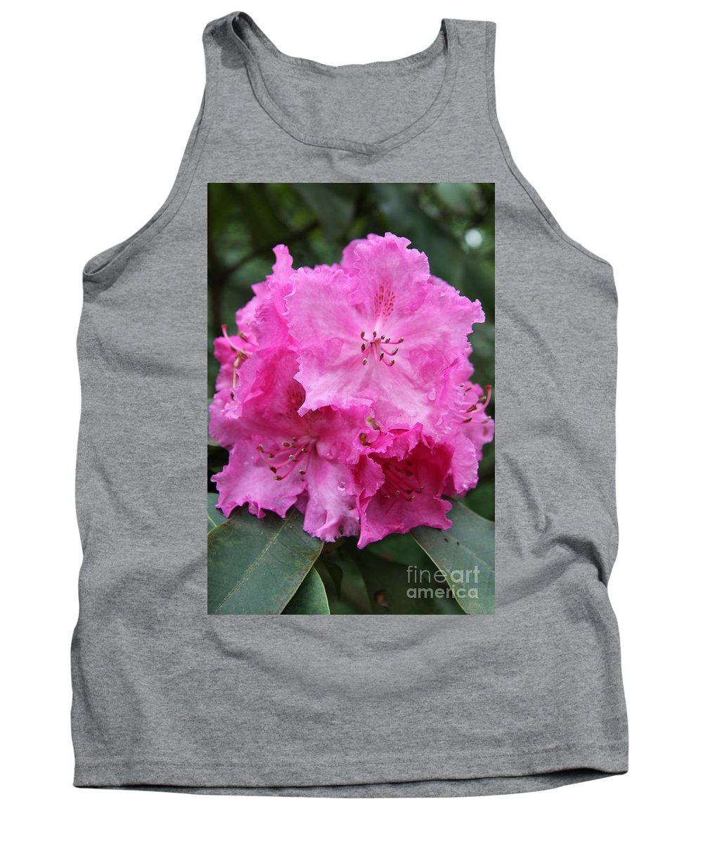 Rhododendron Tank Top featuring the photograph Bright Pink Blossoms by Christiane Schulze Art And Photography