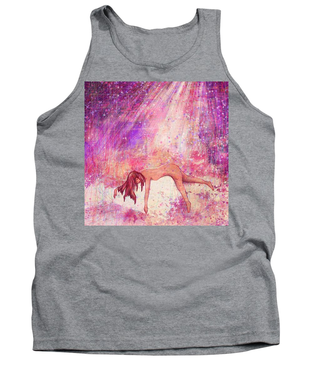 Abstract Tank Top featuring the digital art Broken by Rachel Christine Nowicki