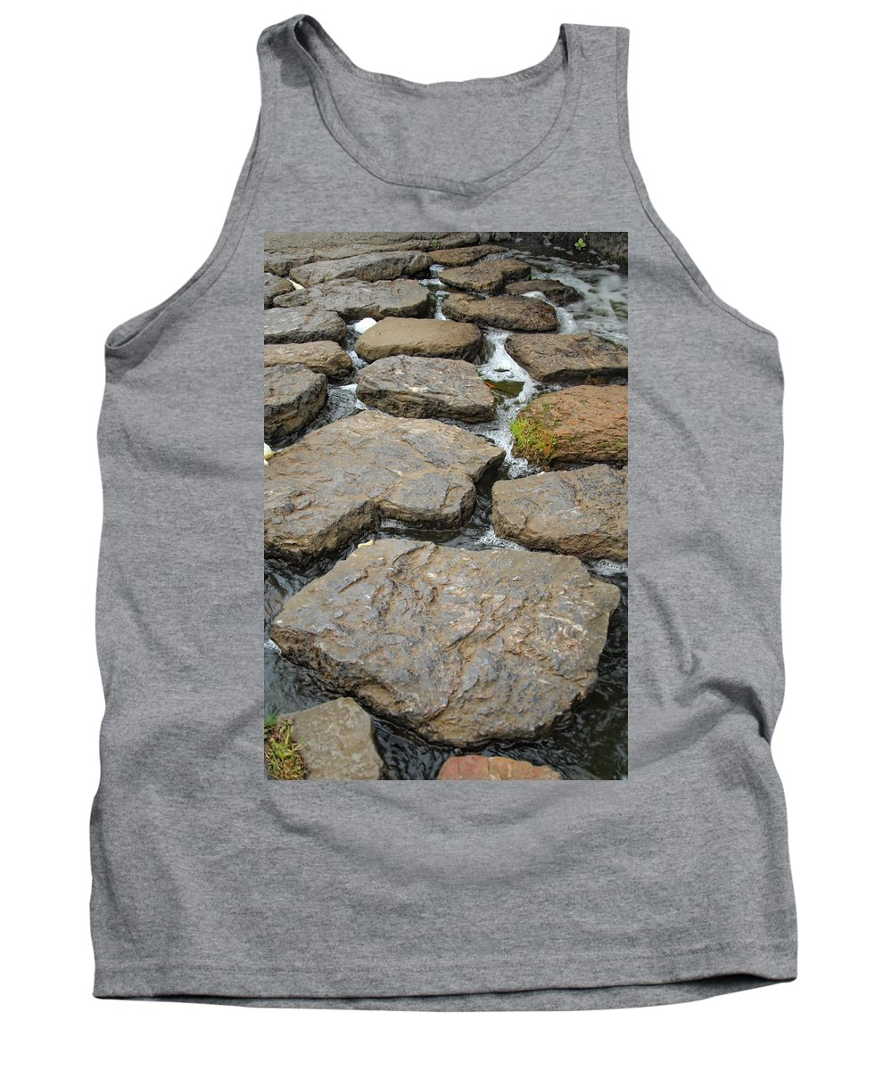 Rocks Tank Top featuring the photograph Broken Road by Donna Blackhall