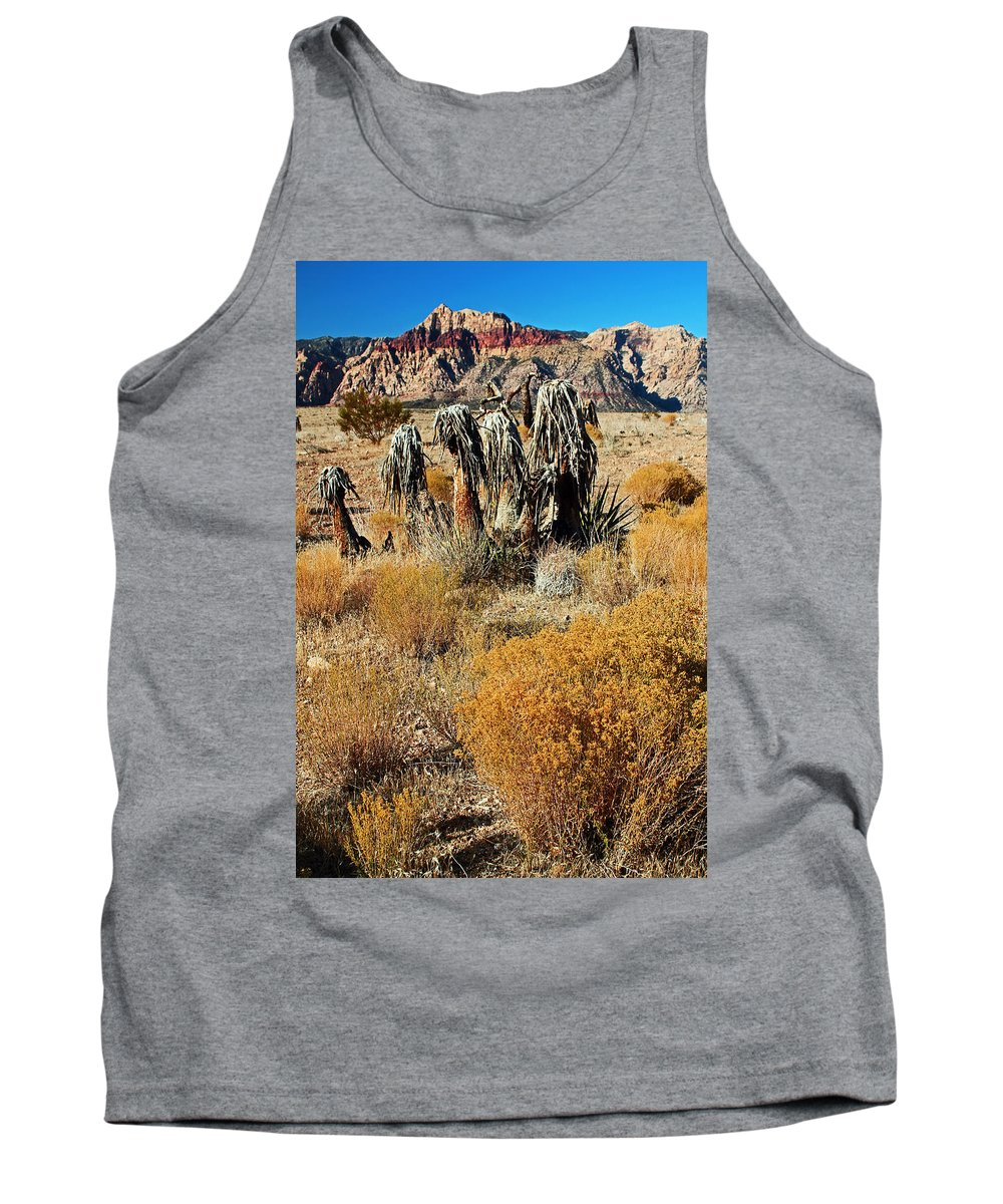 Nevada. Mountain Tank Top featuring the photograph Brown Ridge Line by Jennifer Robin