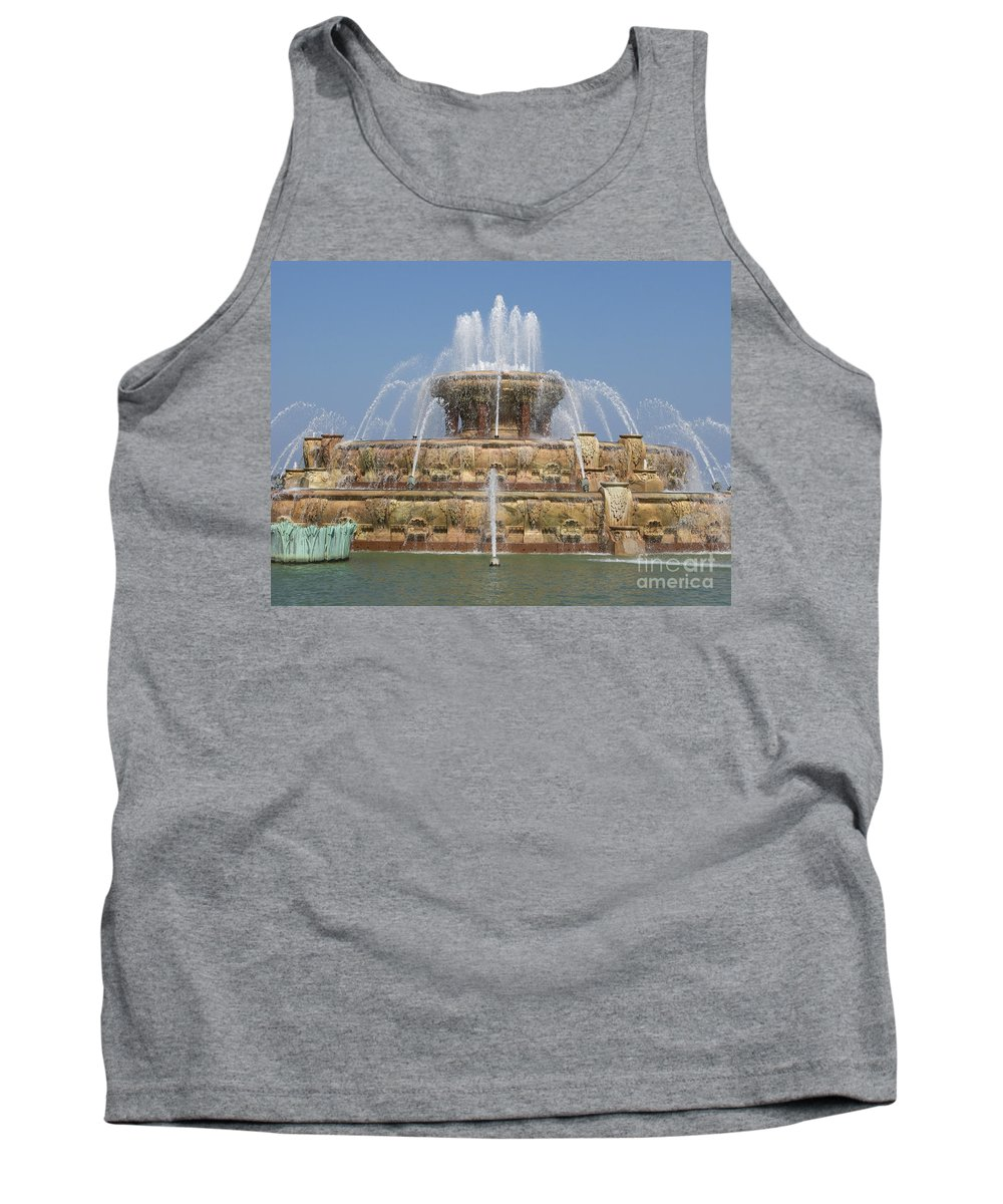 Chicago Tank Top featuring the photograph Buckingham Fountain - Chicago by Ann Horn