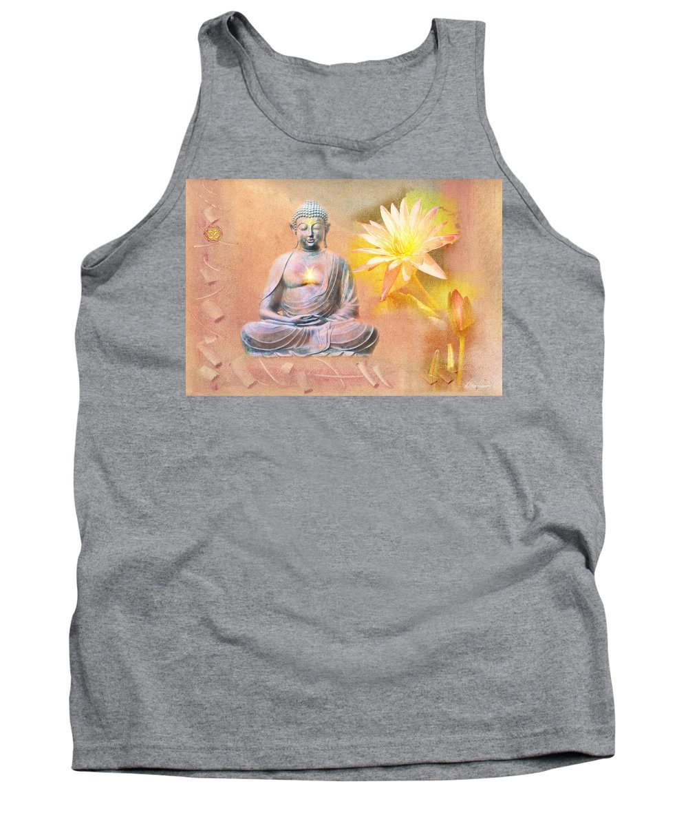 Buddha Tank Top featuring the photograph Buddha Of Compassion by Diana Haronis
