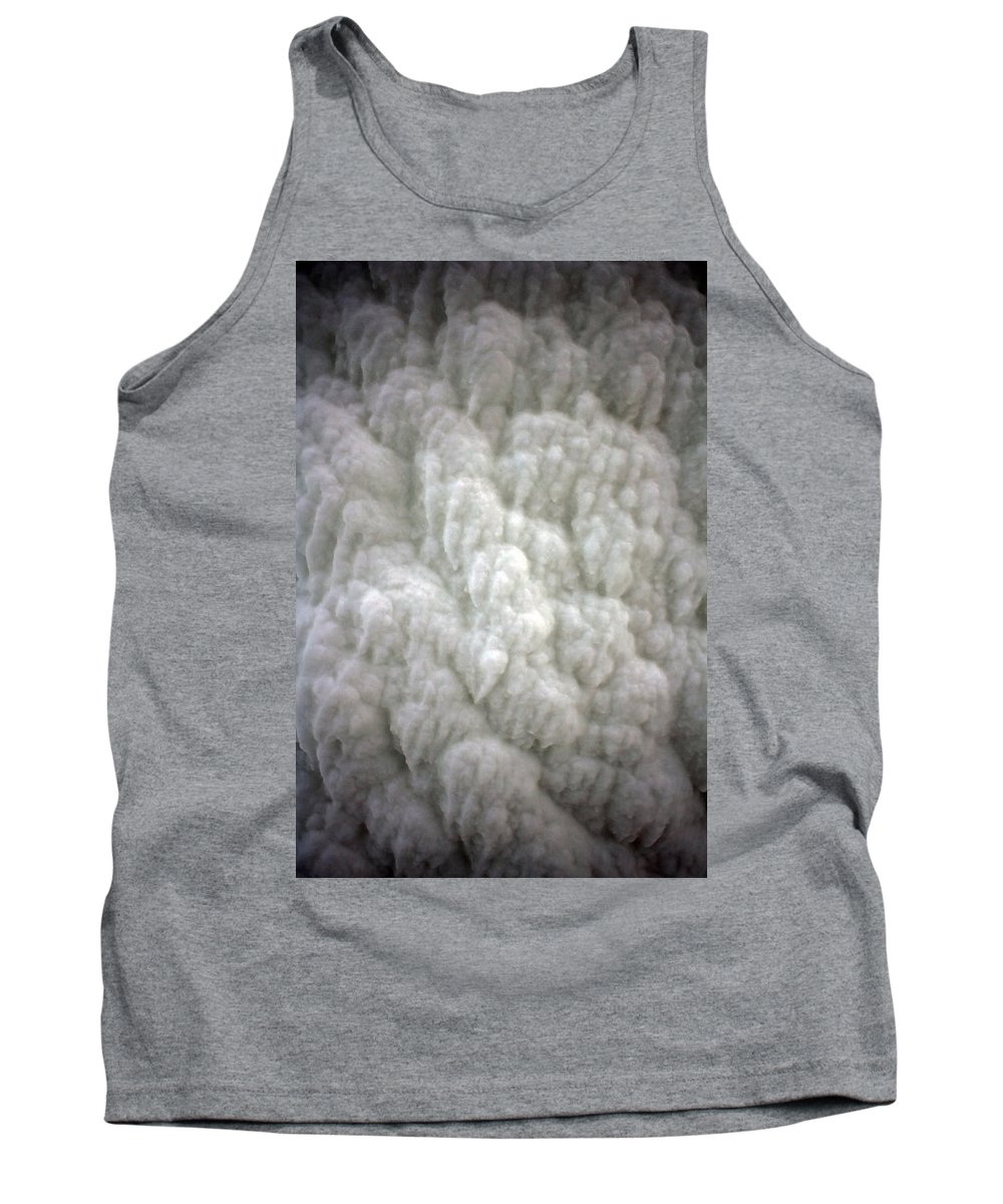 Ice Tank Top featuring the photograph Buildup by Allan Lovell