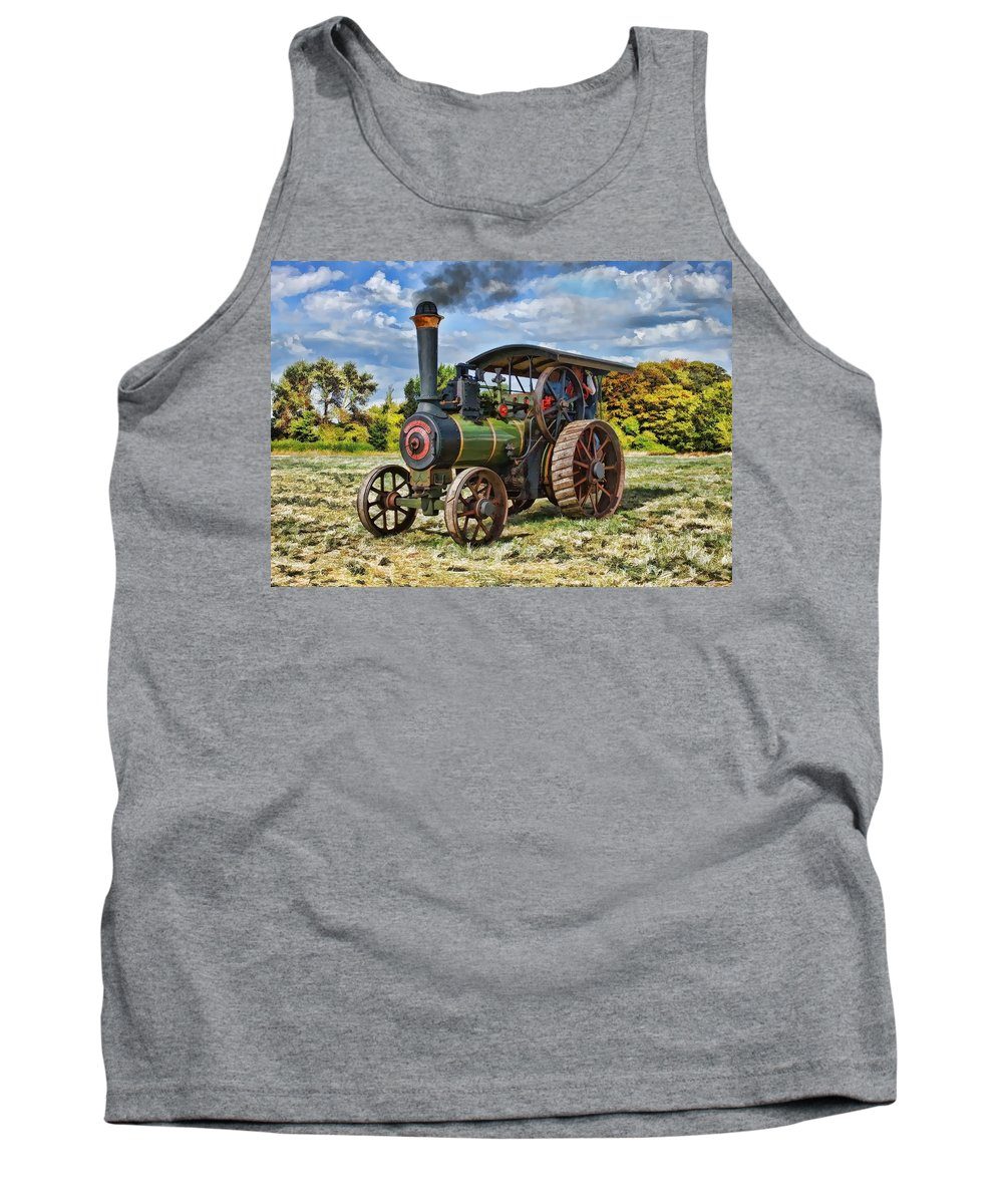 Steam Tank Top featuring the digital art Burrell Steam Engine by Paul Gulliver