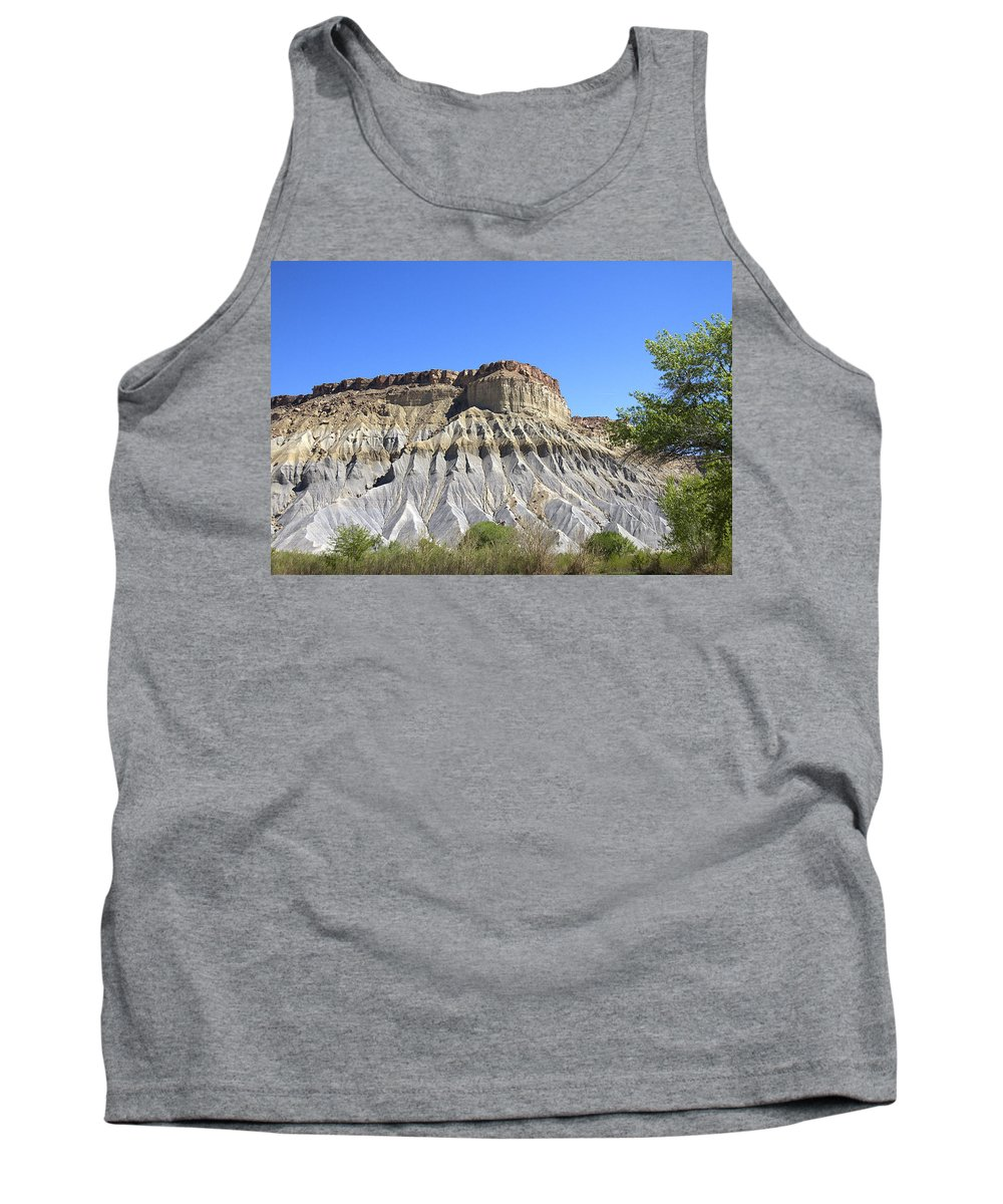 Caineville Tank Top featuring the photograph Caineville Mesa Utah by Peter Lloyd