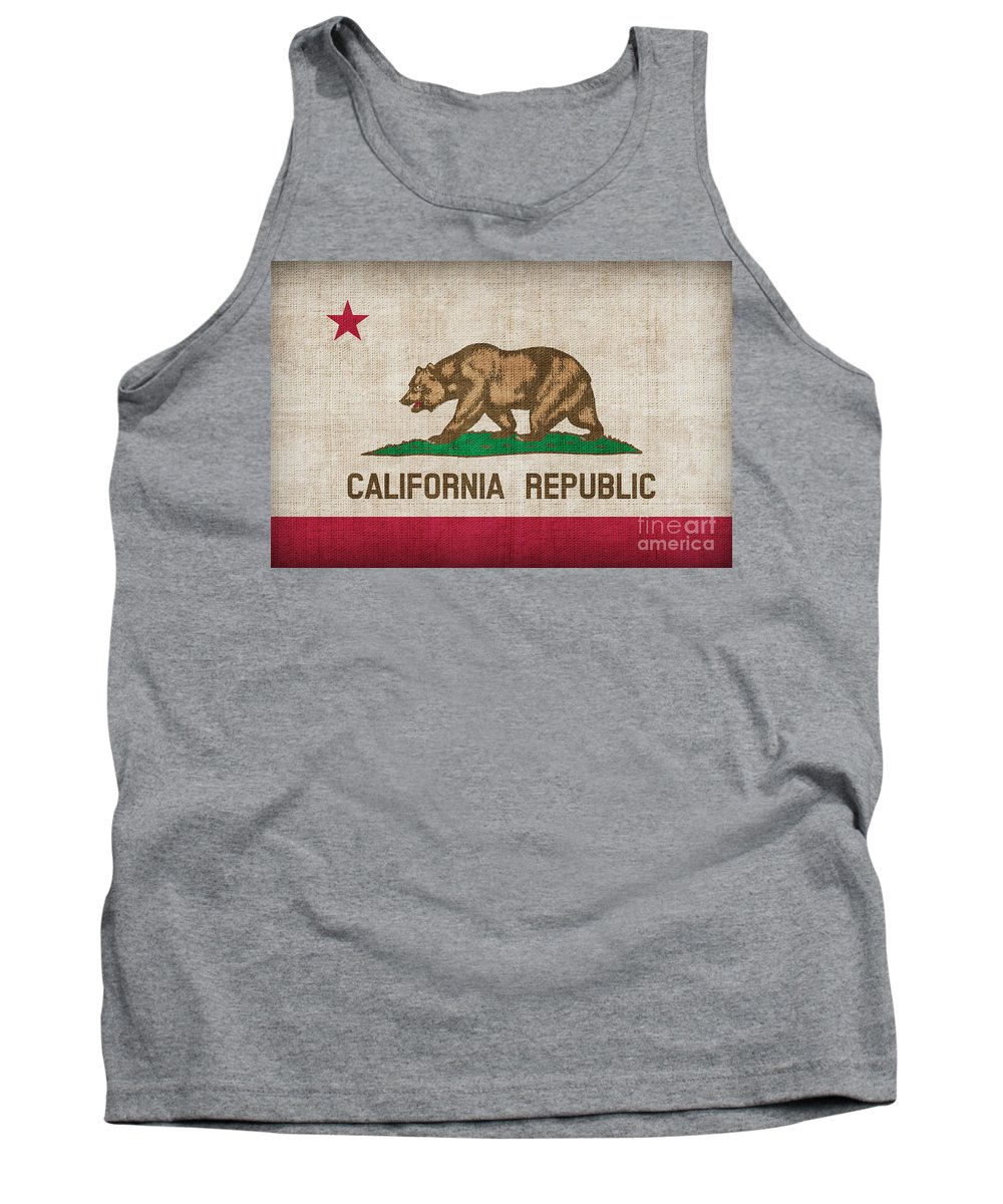 California Tank Top featuring the painting California State Flag by Pixel Chimp