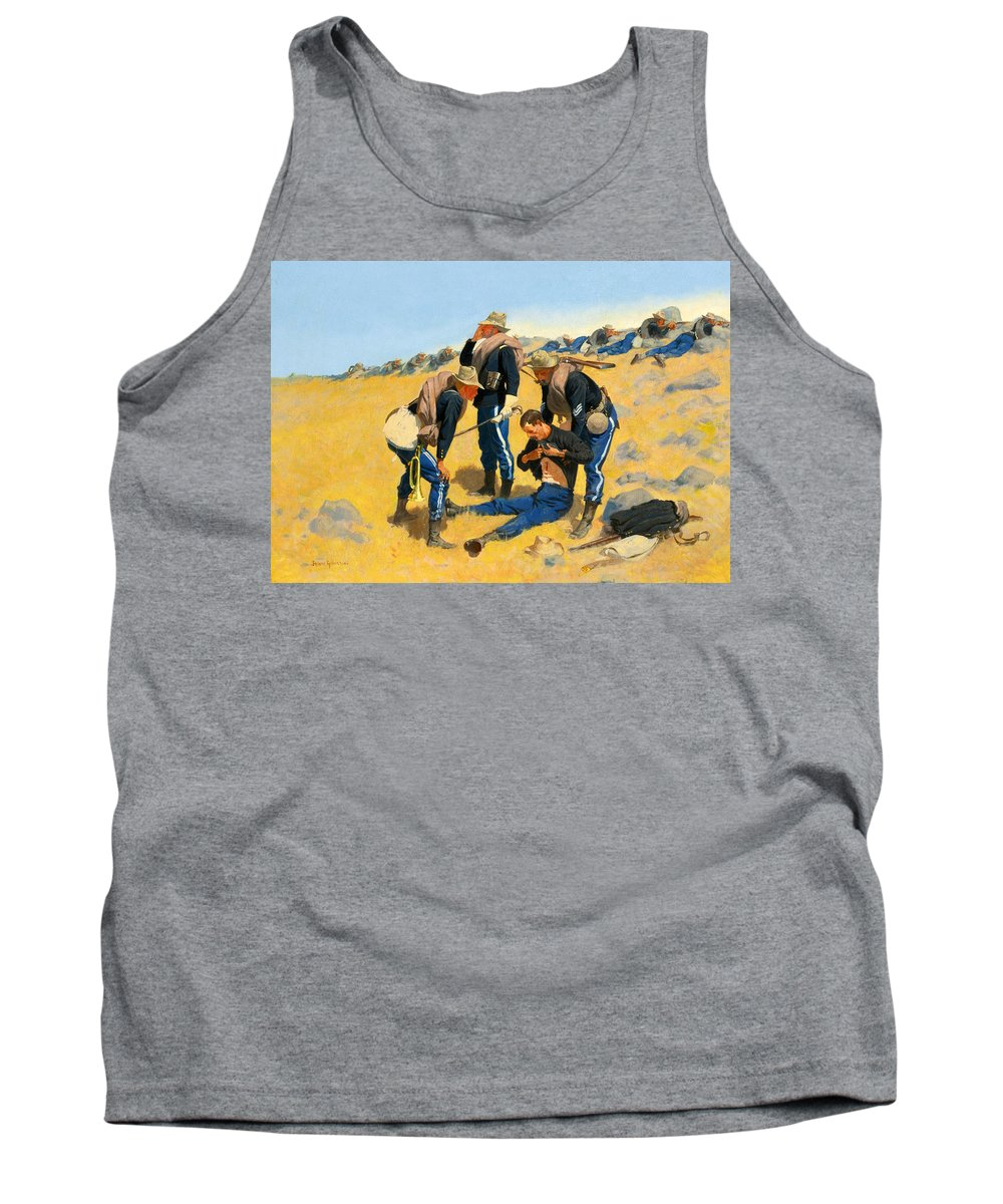 Frederic Remington Tank Top featuring the painting Call The Doctor by Frederic Remington
