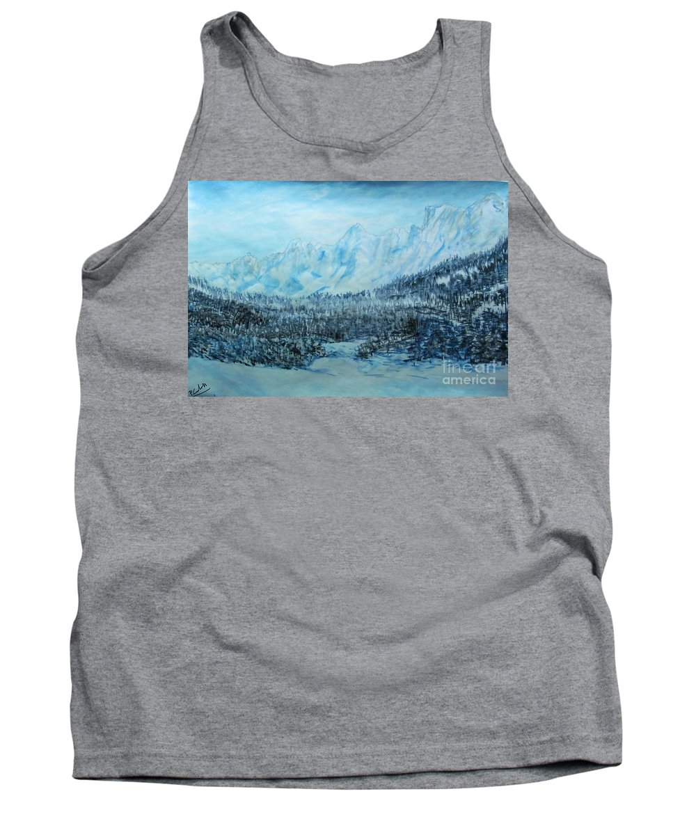 Piero C - Campelli - Original Acrylic Fine Art Paintings Tank Top featuring the painting Campelli by Piero C