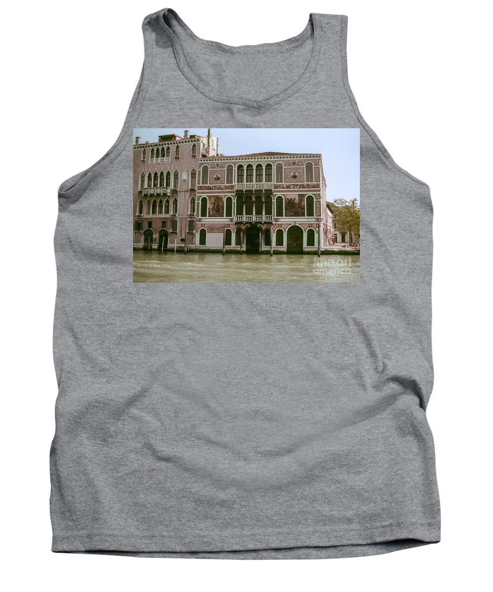 Venice Canal Canals Building Buildings Dock Docks Structure Structures Architecture Water Italy City Cities Cityscape Cityscapes Tank Top featuring the photograph Canal Architecture by Bob Phillips