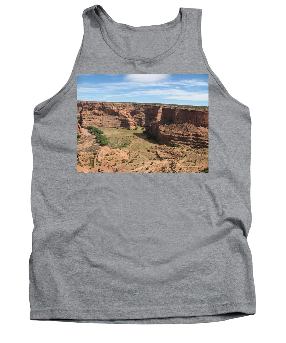 Canyon Tank Top featuring the photograph Canyon De Chelly View by Christiane Schulze Art And Photography