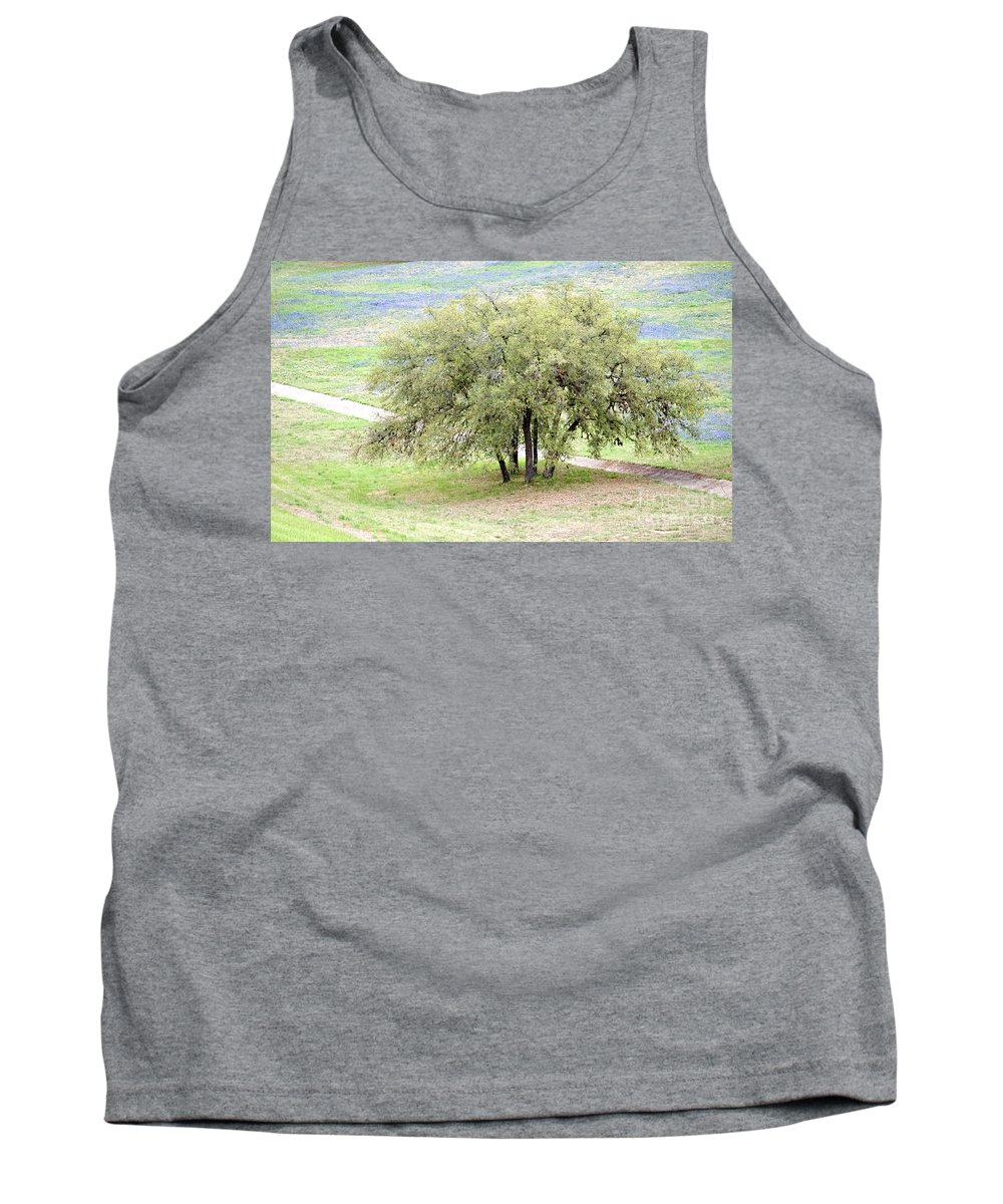 Canyon Lake Tank Top featuring the photograph Canyon Lake Live Oak by Gary Richards