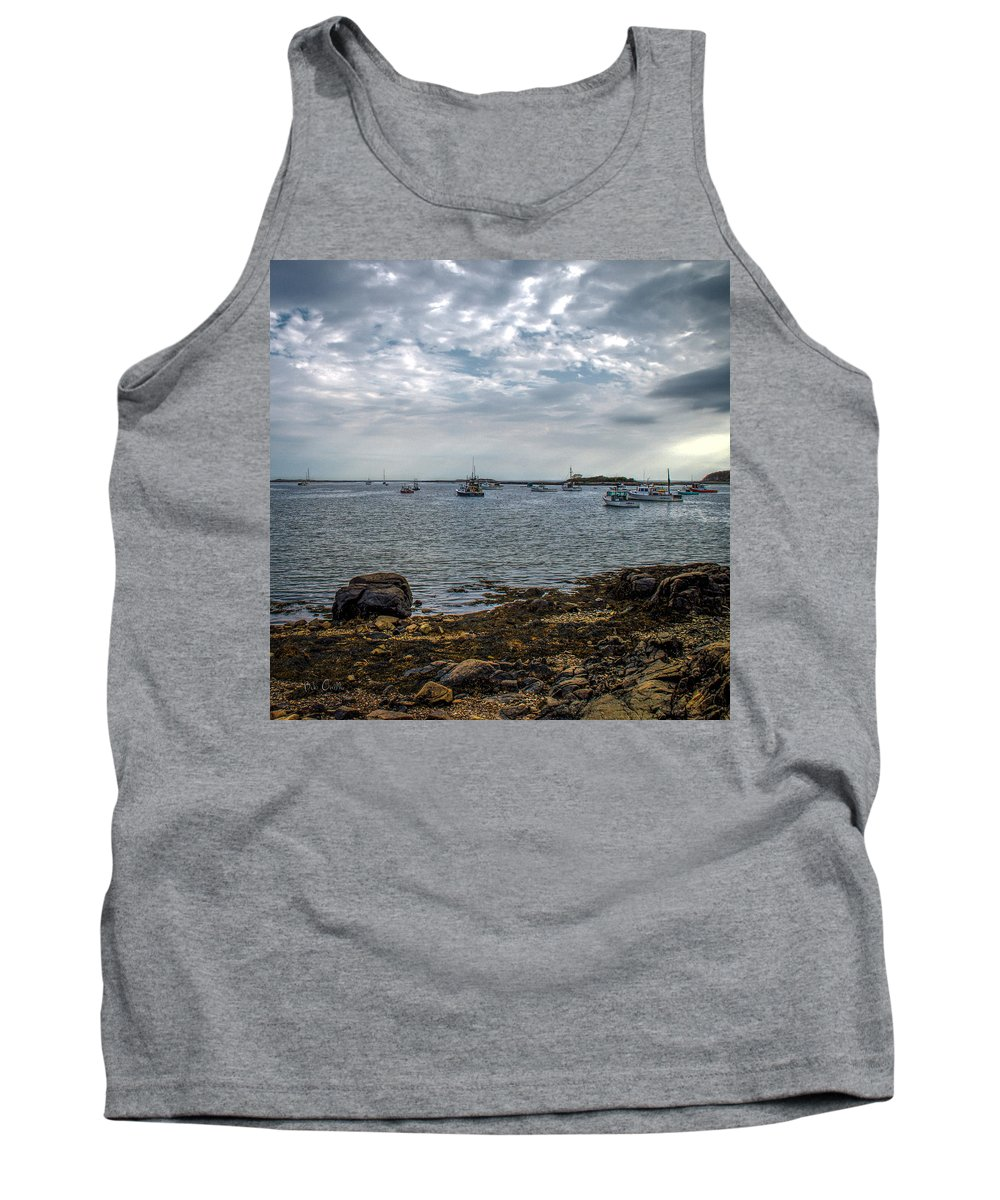 Kennebunk Tank Top featuring the photograph Cape Porpoise Maine - In The Evening by Bob Orsillo