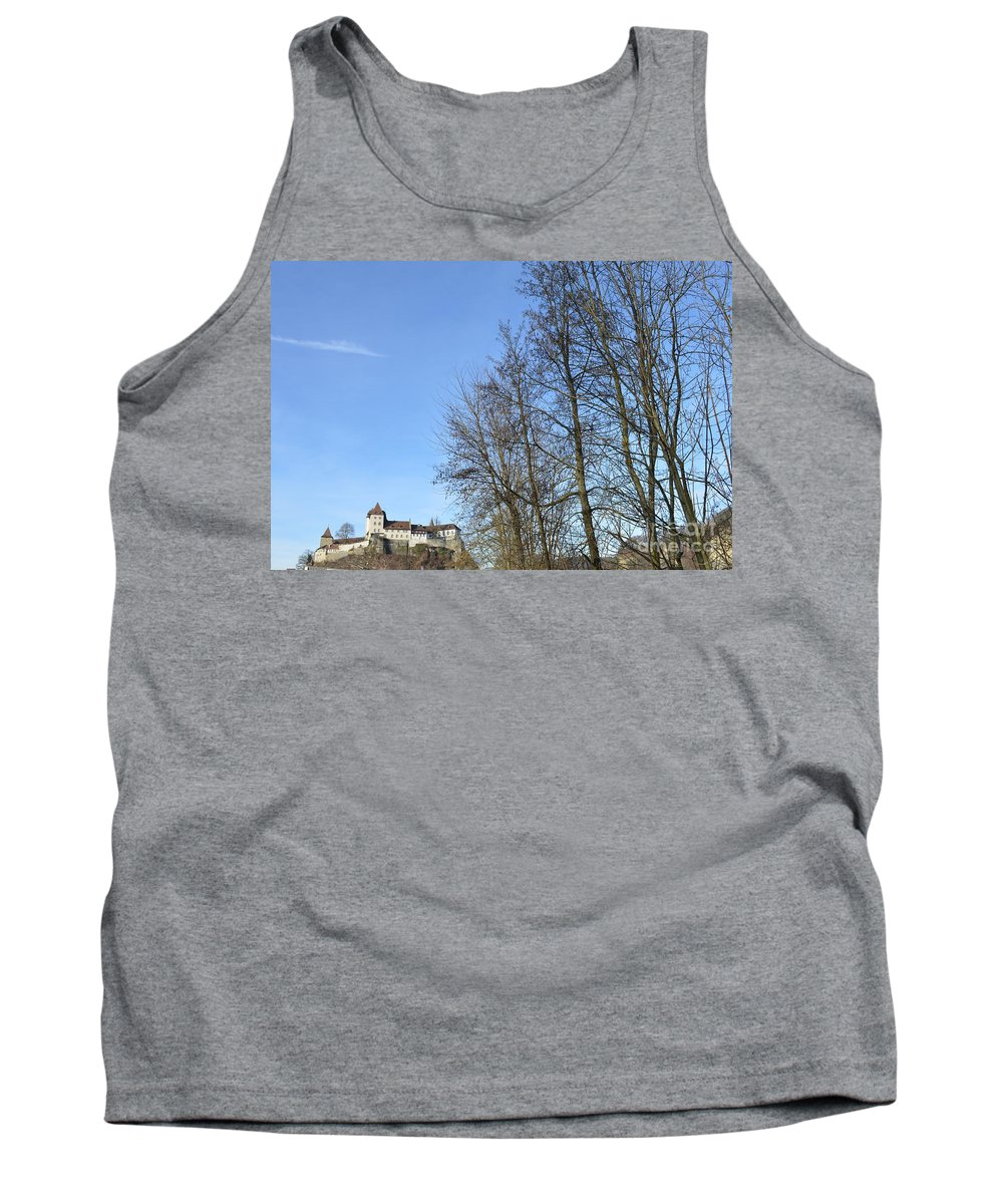 Landscape And Building Tank Top featuring the photograph Castle And Trees by Felicia Tica