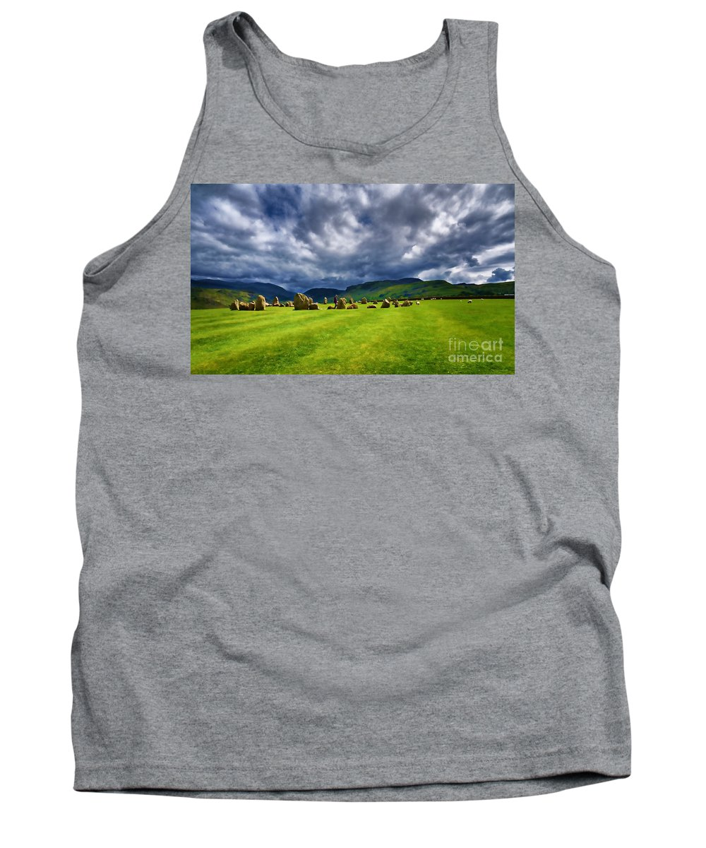 Castlerigg Stone Circle Tank Top featuring the photograph Castlerigg Stone Circle by Louise Heusinkveld