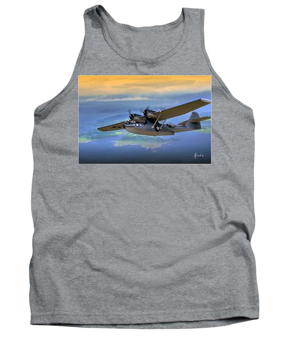 Catalina Tank Top featuring the photograph Catalina Over Islands by Craig Purdie