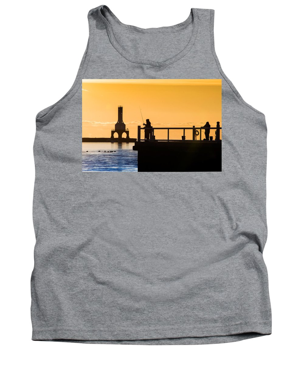 Fishing Tank Top featuring the photograph Catching Gold by James Meyer