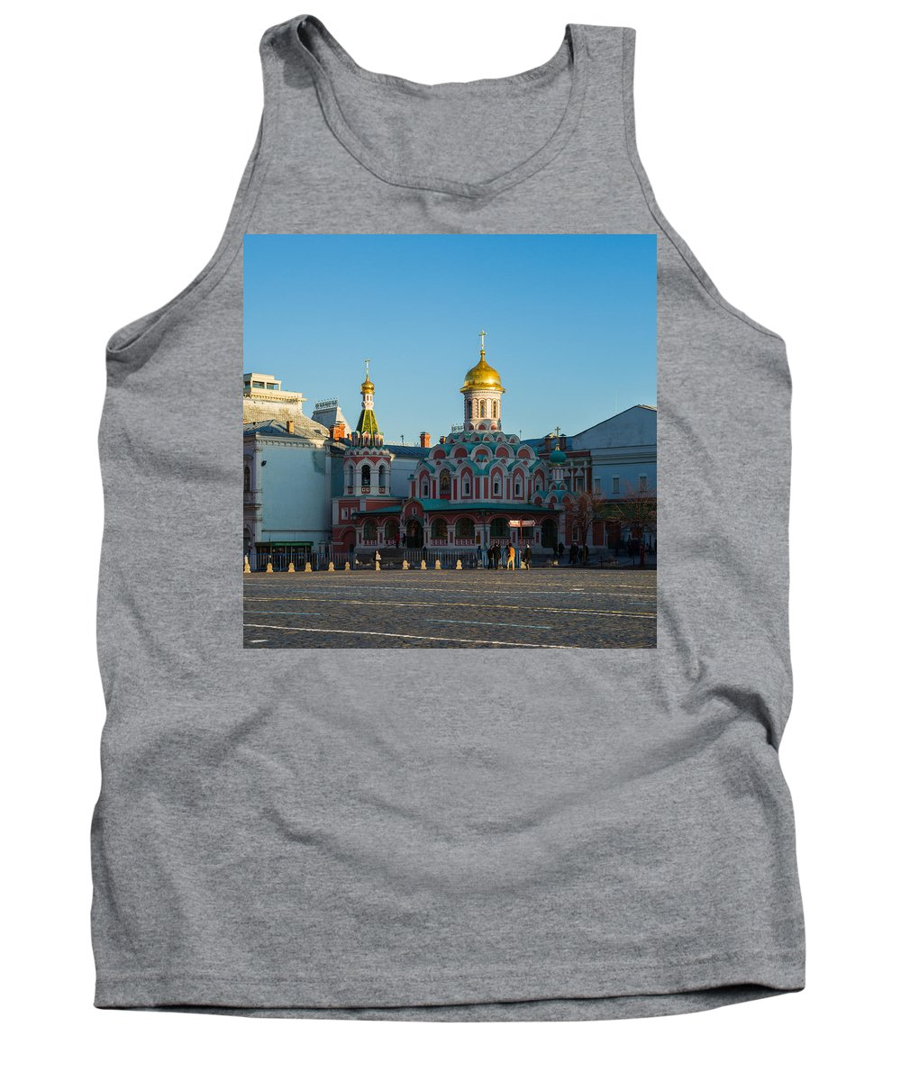 Architecture Tank Top featuring the photograph Cathedral Of Our Lady Of Kazan - Square by Alexander Senin