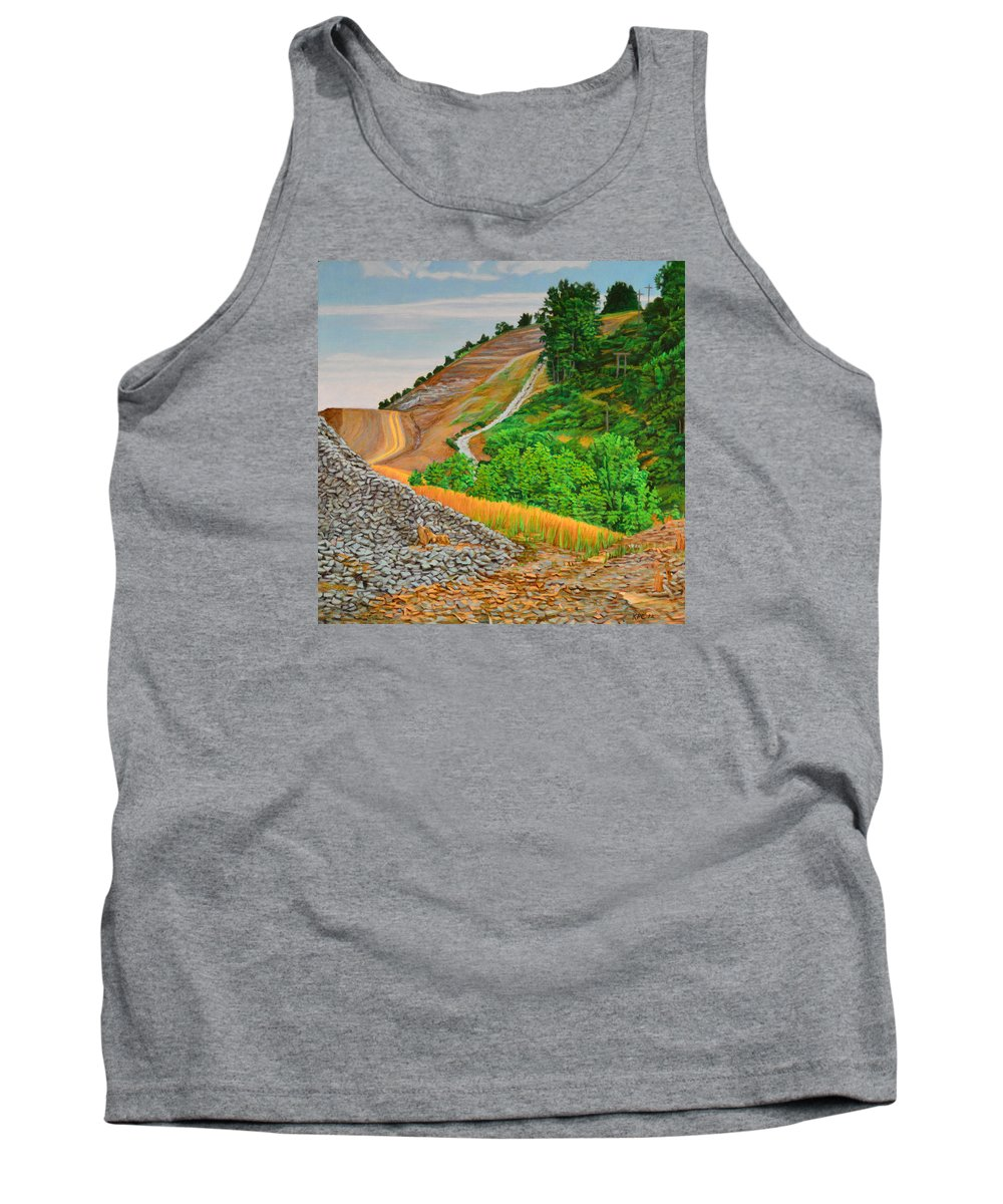 Landscape Tank Top featuring the painting Cavity by Kenneth Cobb