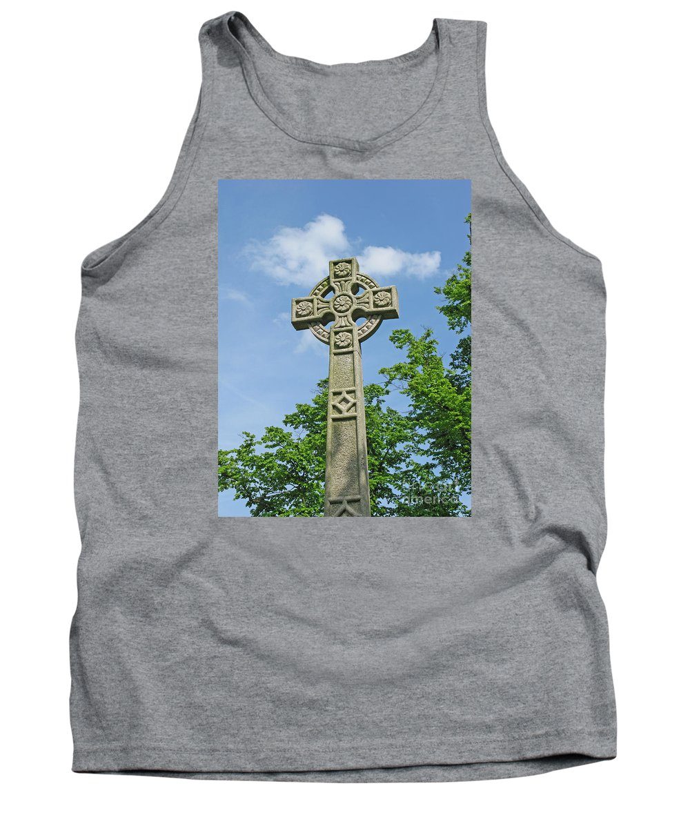 Cross Tank Top featuring the photograph Celtic Cross by Ann Horn