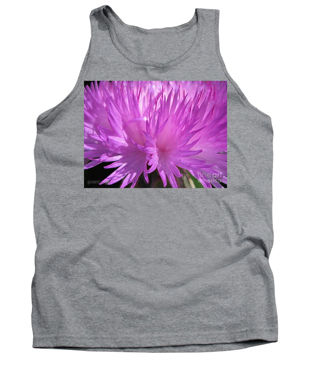 Centaurea Tank Top featuring the painting Centaurea From The Sweet Sultan Mix by J McCombie