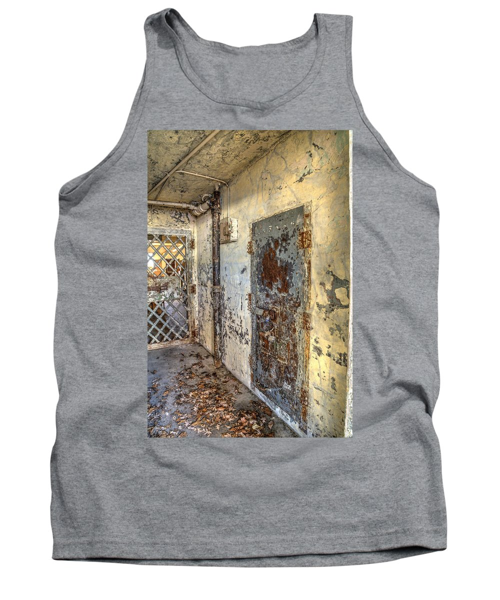 Doors Tank Top featuring the photograph Chain Gang-2 by Charles Hite