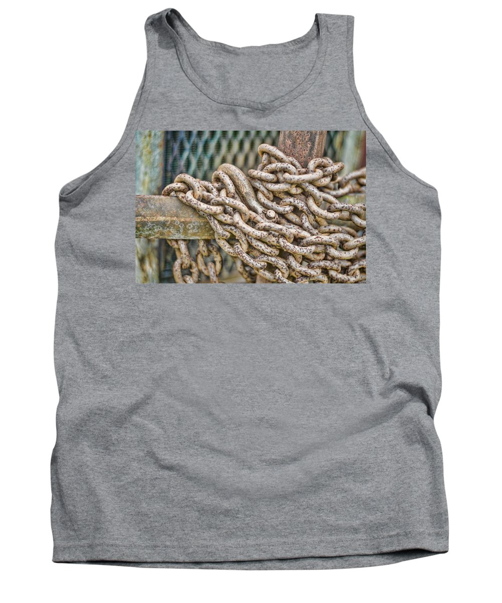 Chain Tank Top featuring the photograph Chained Up by Heather Applegate