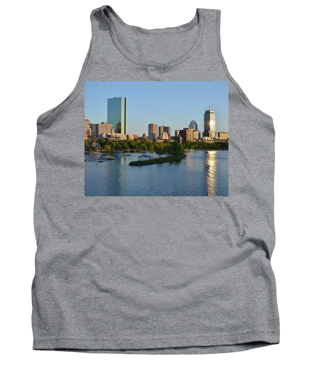 8x10 Tank Top featuring the photograph Charles River Reflection by Toby McGuire