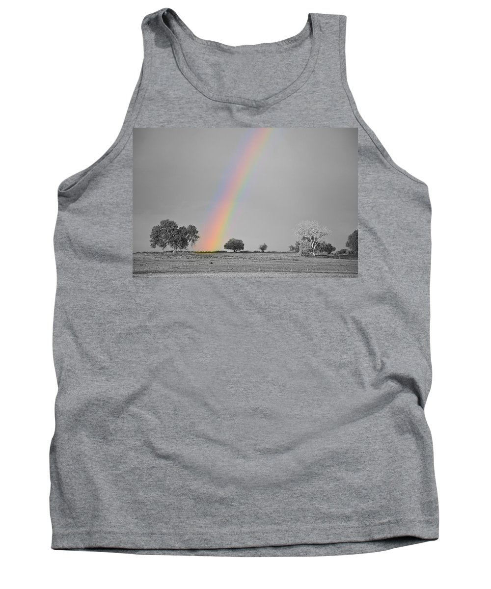 Rainbows Tank Top featuring the photograph Chasing The Pot Of Gold Bwsc by James BO Insogna