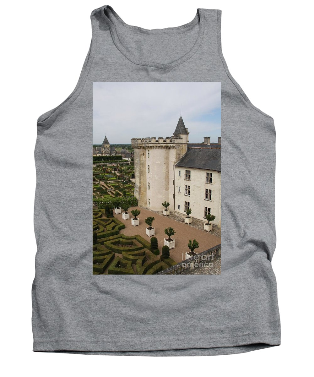 Palace Tank Top featuring the photograph Chateau And Garden - Villandry by Christiane Schulze Art And Photography