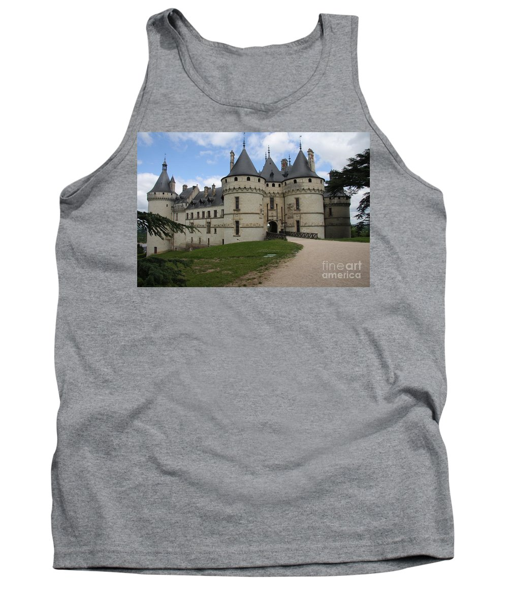 Palace Tank Top featuring the photograph Chateau Chaumont Steeples by Christiane Schulze Art And Photography