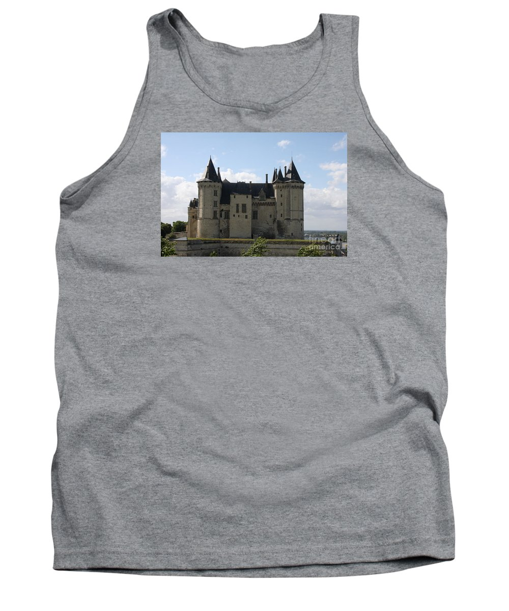 Castle Tank Top featuring the photograph Chateau Saumur - France by Christiane Schulze Art And Photography