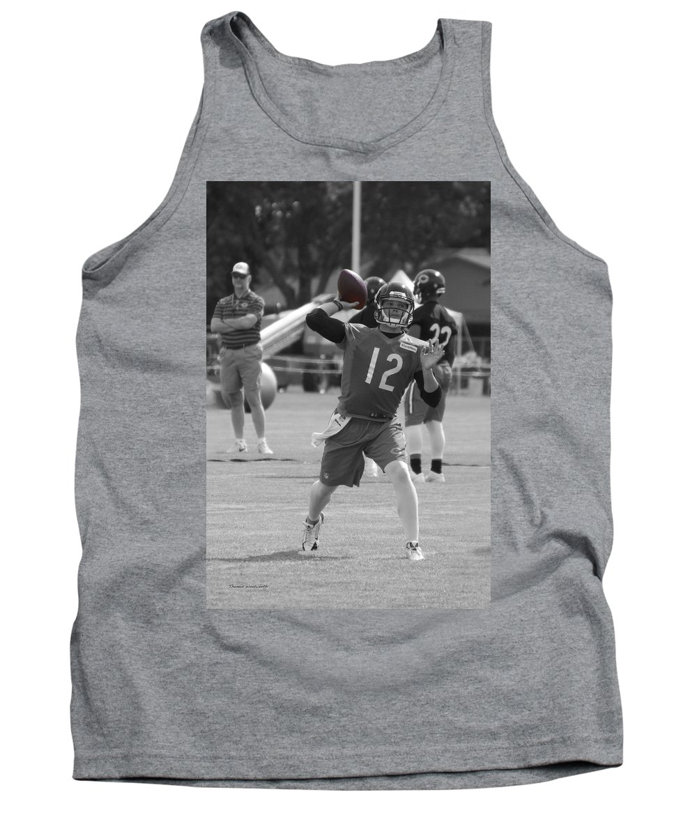 Chicago Bears Tank Top featuring the photograph Chicago Bears Qb David Foles Training Camp 2014 Sc 01 by Thomas Woolworth