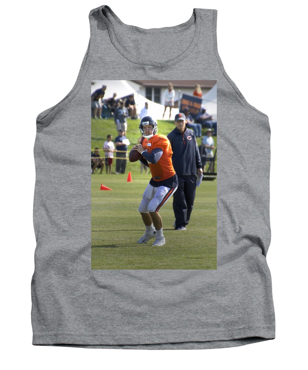 Chicago Bears Tank Top featuring the photograph Chicago Bears Qb Jordan Palmer Training Camp 2014 04 by Thomas Woolworth