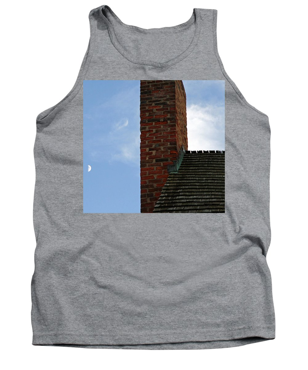Chimney Tank Top featuring the photograph Chimney Moon by Cora Wandel