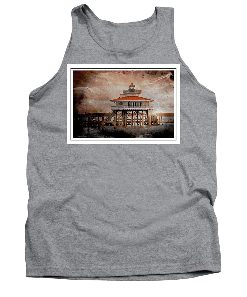 Cambridge Tank Top featuring the photograph Choptank River Lighthouse by Suzanne Stout