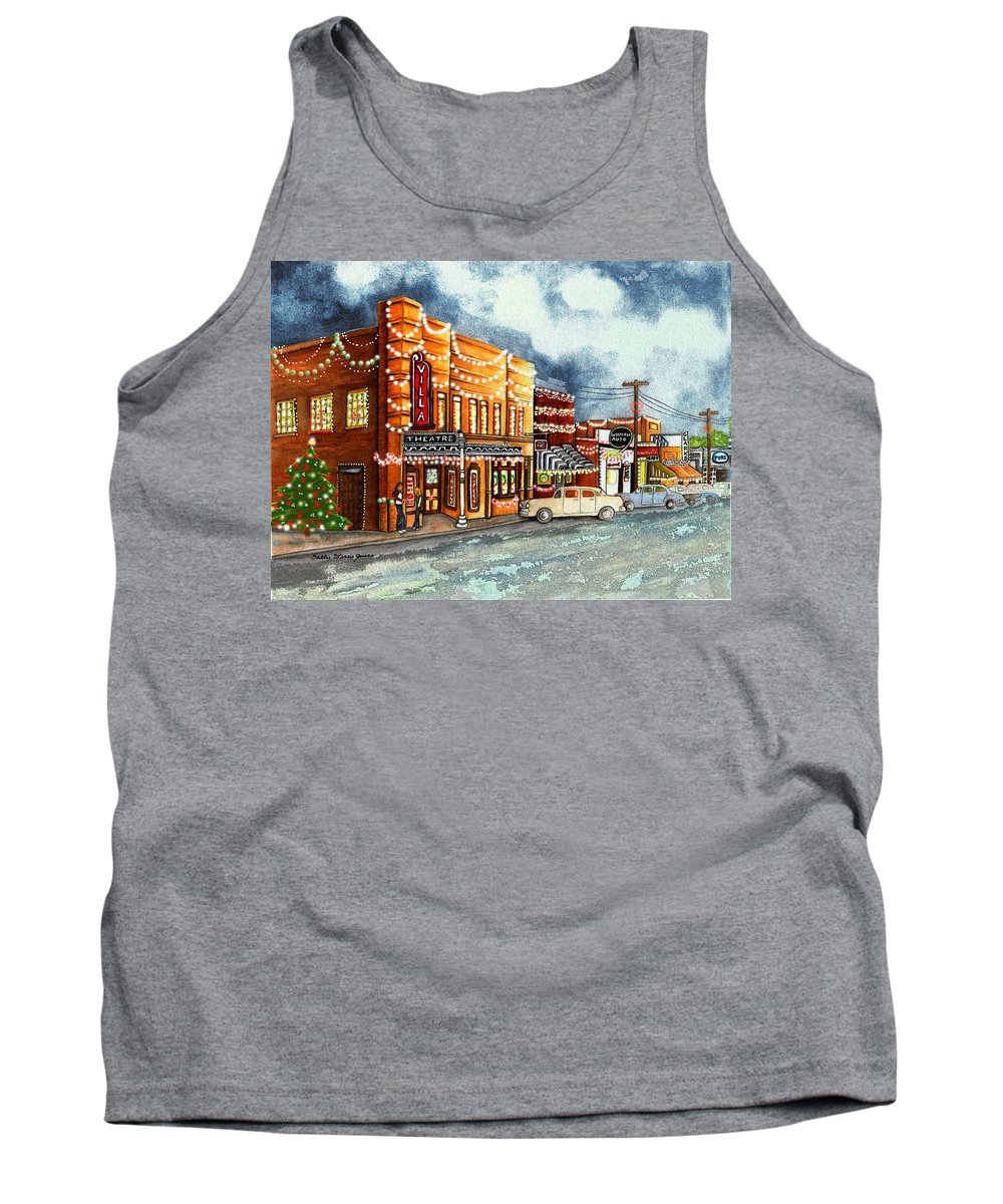 Christmas Tank Top featuring the painting Christmas In Villa Rica 1950's by Sally Storey Jones