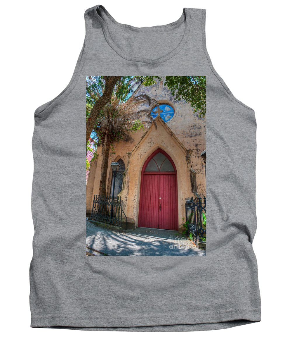 St. John's Reformed Episcopal Church Tank Top featuring the photograph Church Door by Dale Powell