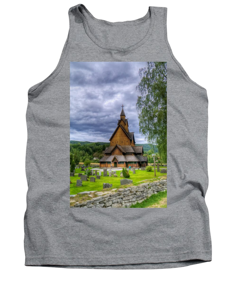 Landscape Tank Top featuring the photograph Church In Norway by Mountain Dreams
