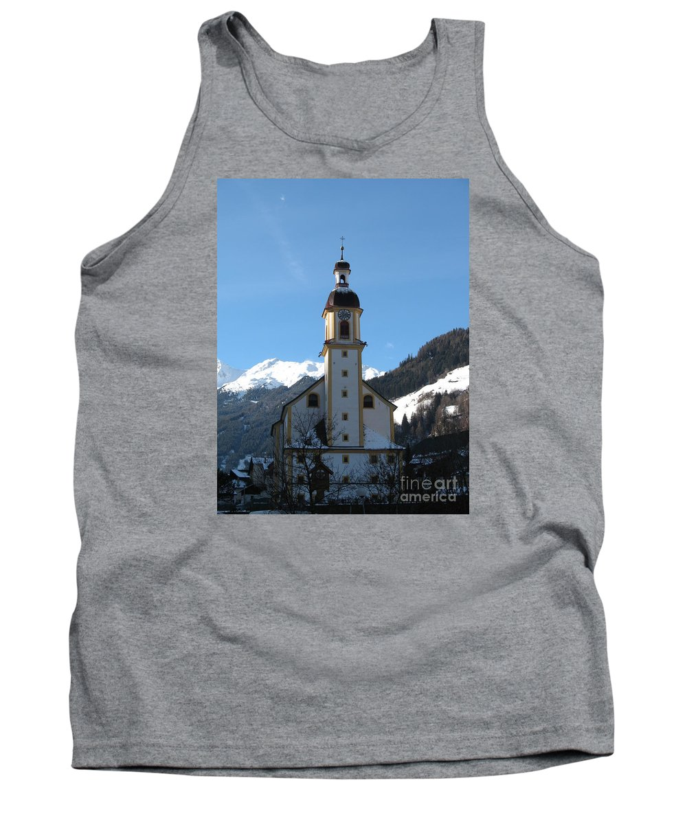 Church Tank Top featuring the photograph Church In The Austrian Alps by Christiane Schulze Art And Photography