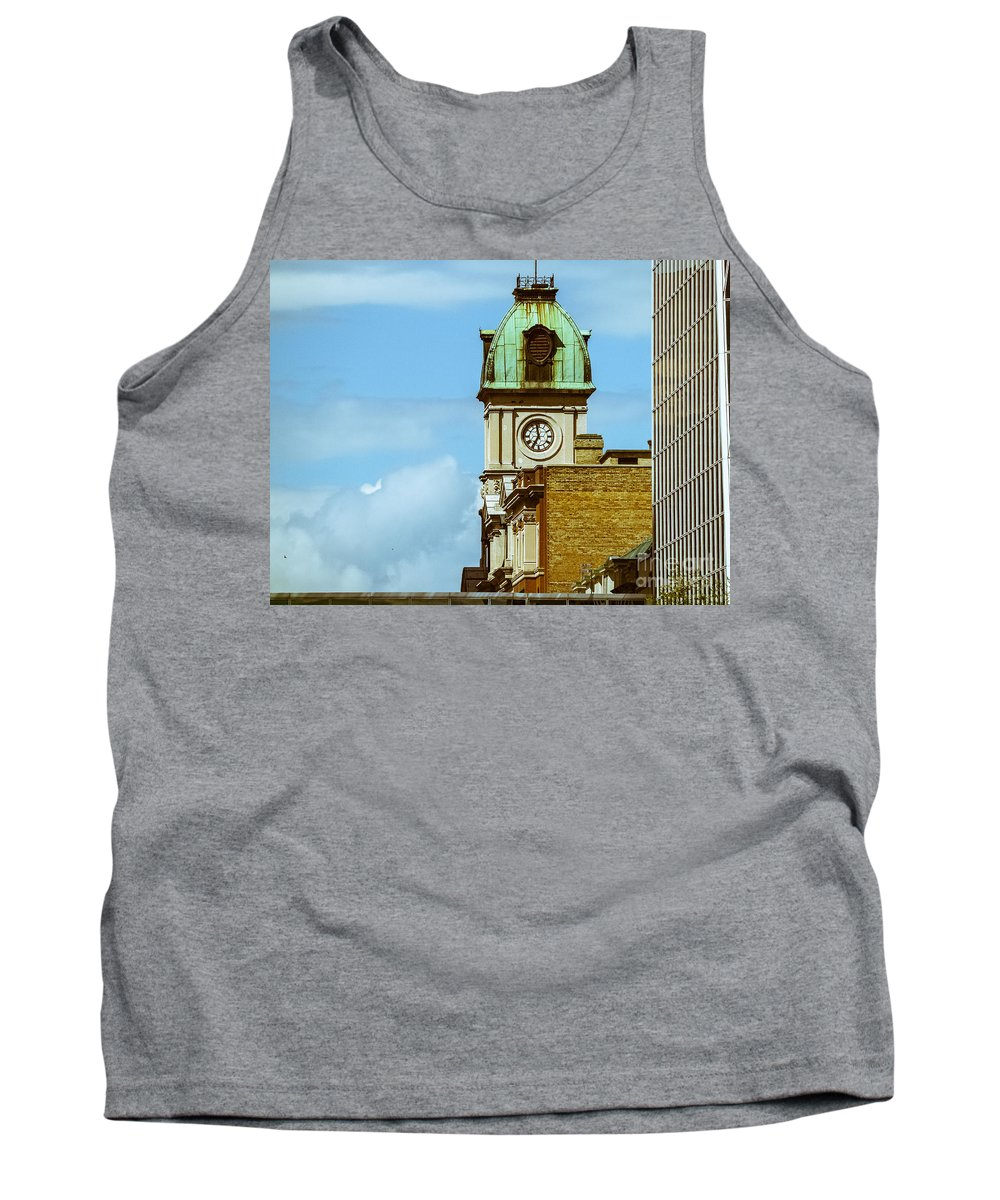 City Scape Tank Top featuring the photograph City Center-57 by David Fabian