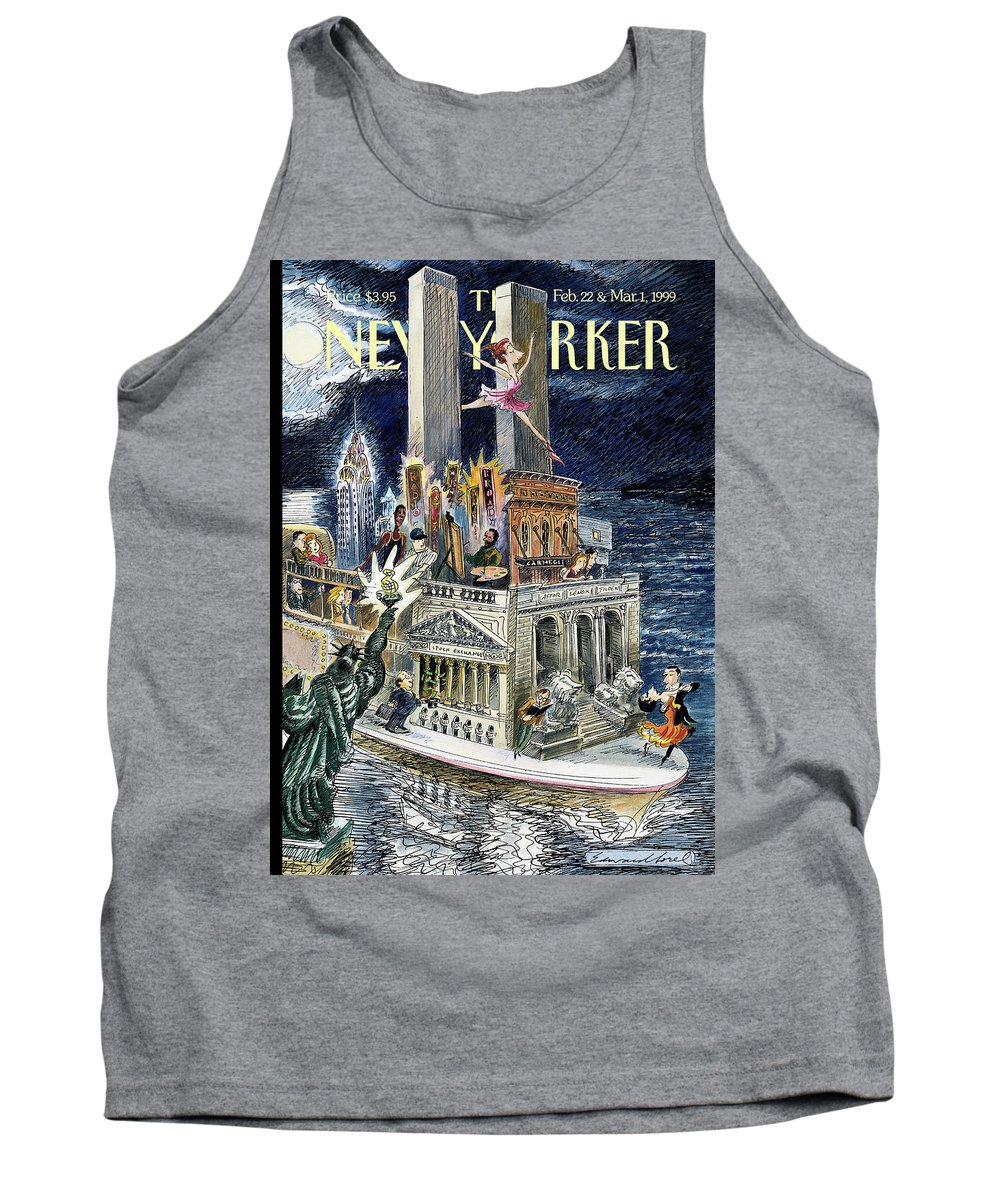 City Of Dreams Tank Top featuring the painting City Of Dreams by Edward Sorel