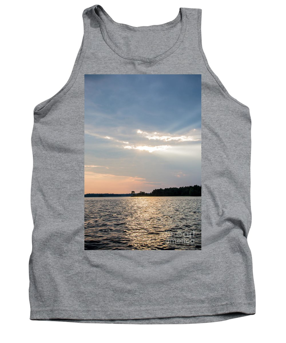 Tank Top featuring the photograph Clayton Lake Sunset by Cheryl Baxter