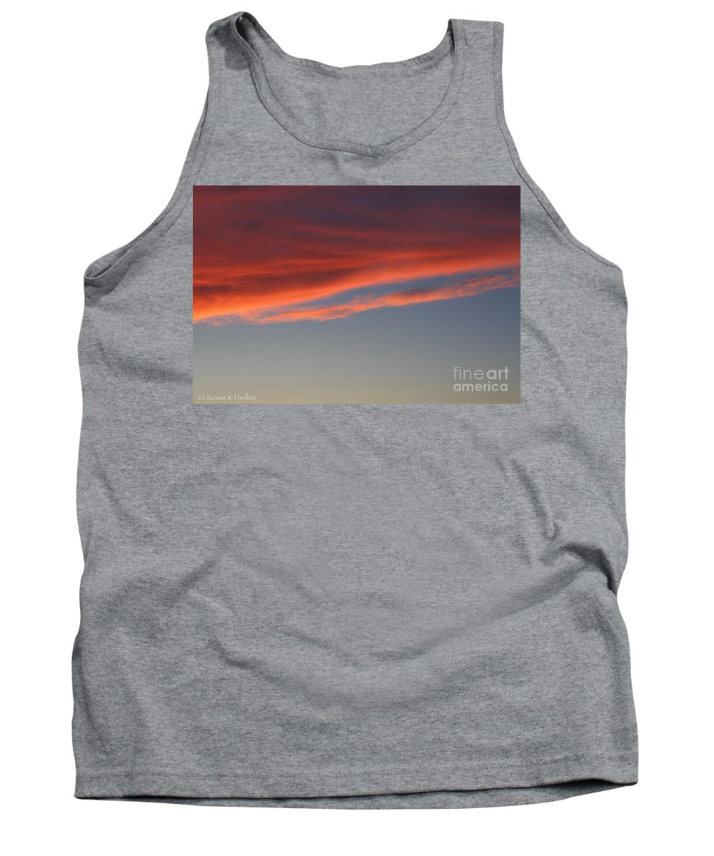 Outdoors Tank Top featuring the photograph Cloud by Susan Herber
