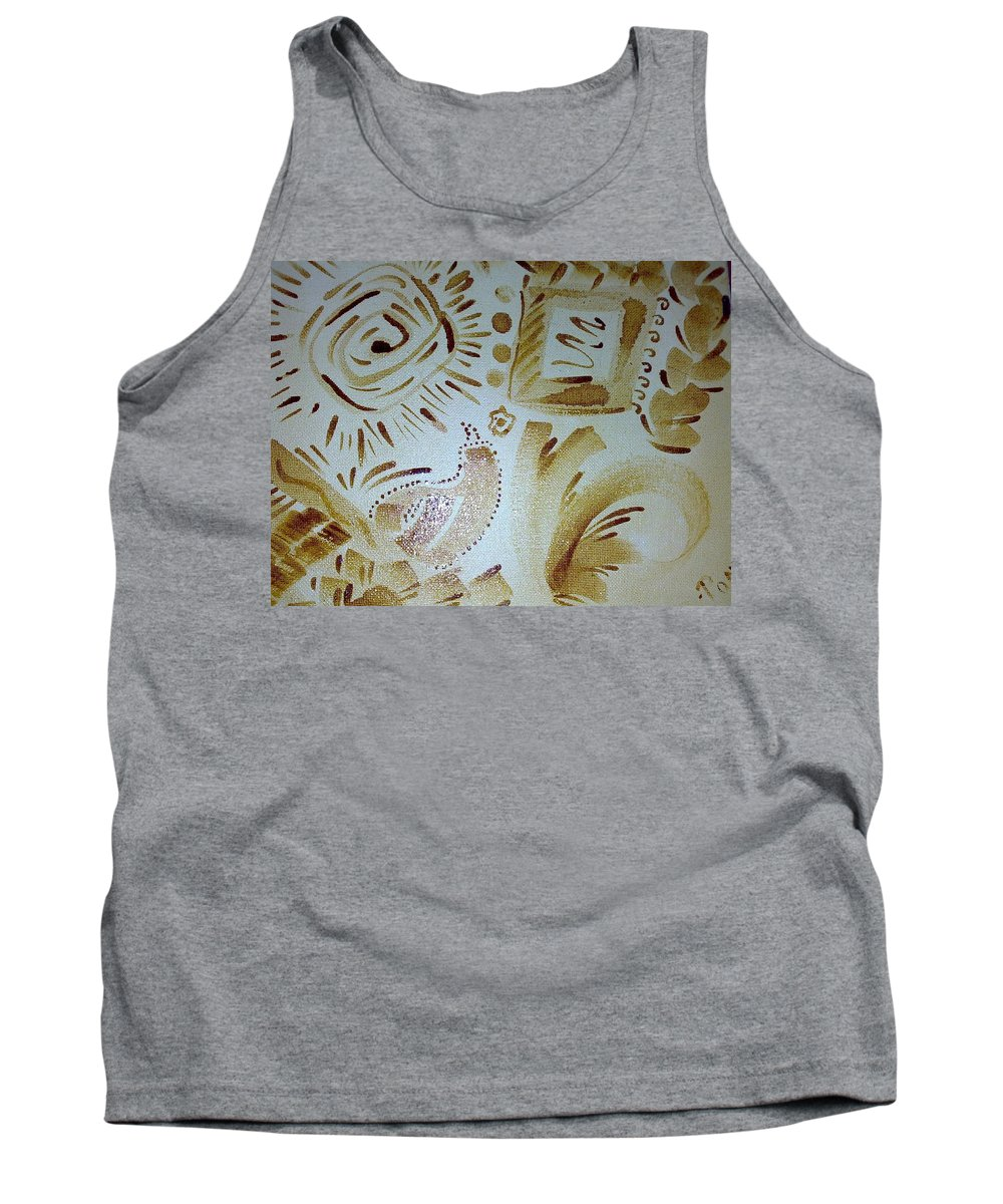 Coffee Art Tank Top featuring the painting Coffee Art by Poornima Ravi