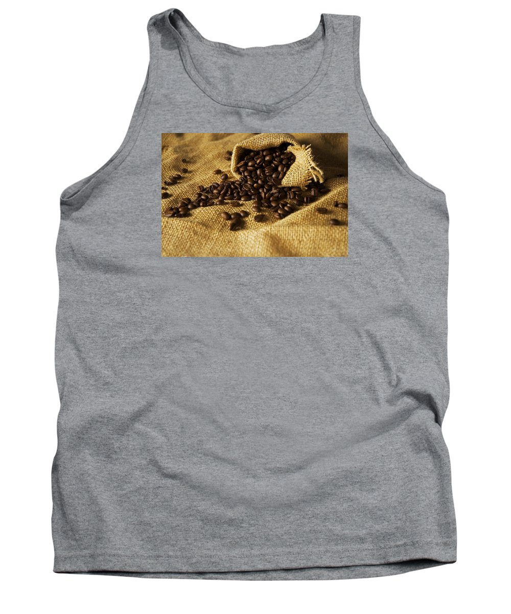Coffee Tank Top featuring the photograph Coffee Beans by FL collection