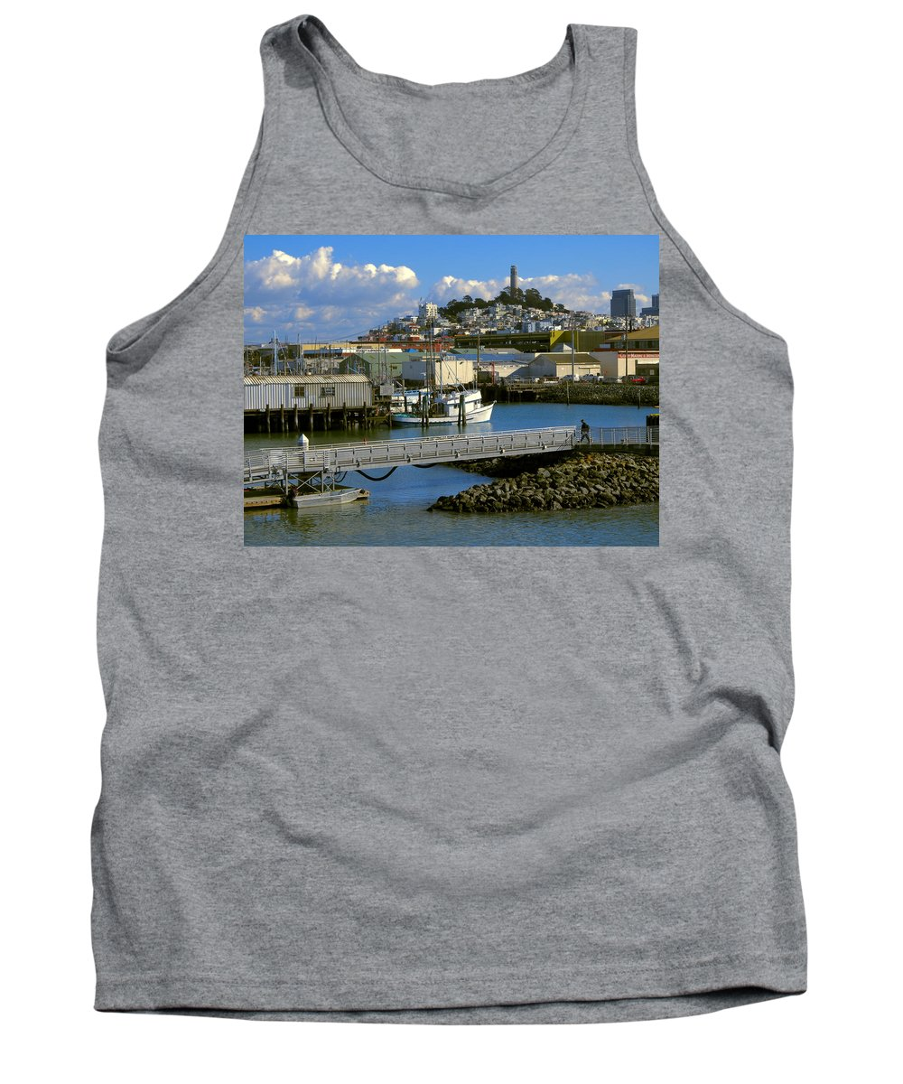 san Francisco Tank Top featuring the photograph Coit Tower And Marina - San Francisco by Daniel Hagerman