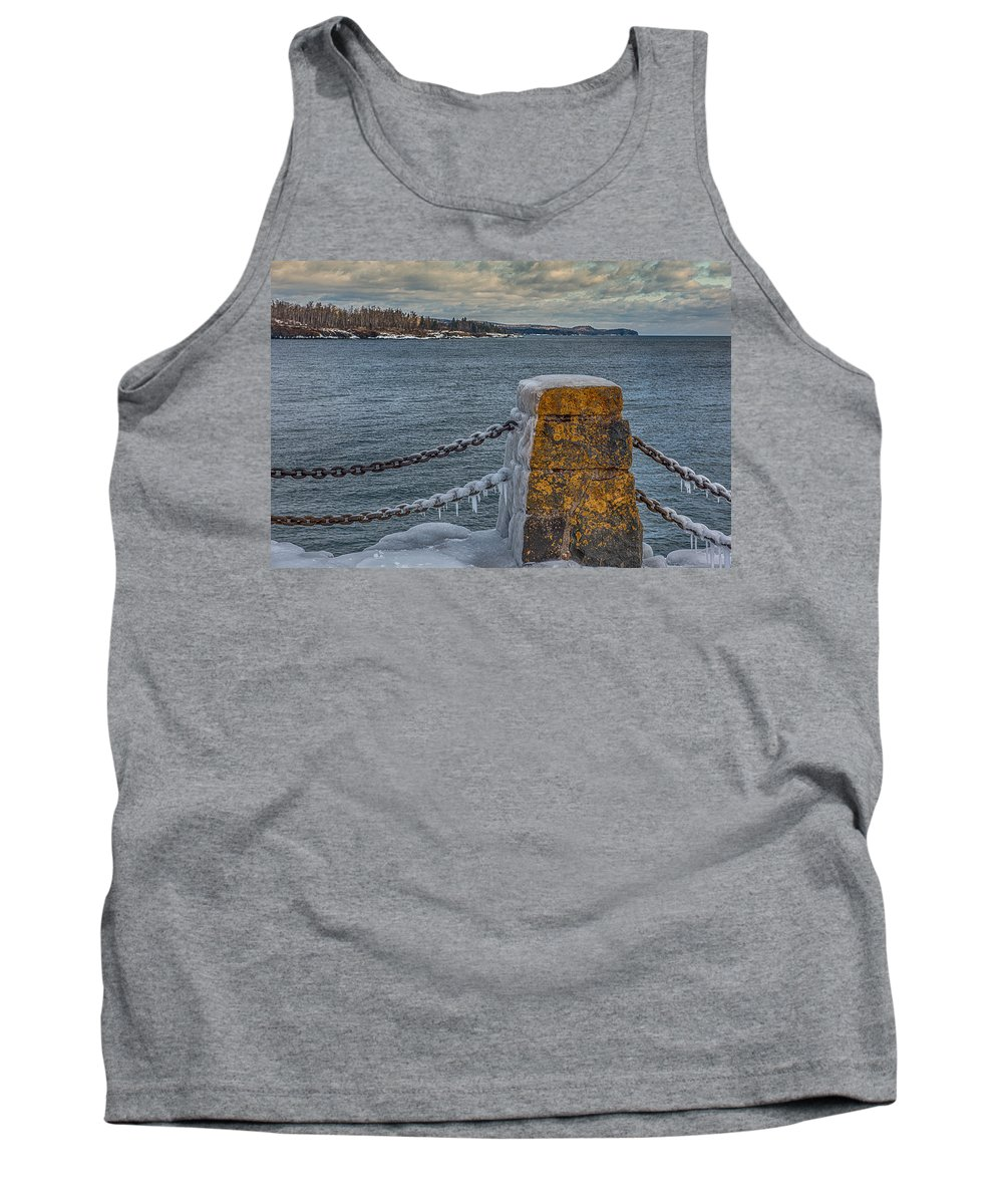 Tank Top featuring the photograph Cold Day On Superior by Paul Freidlund
