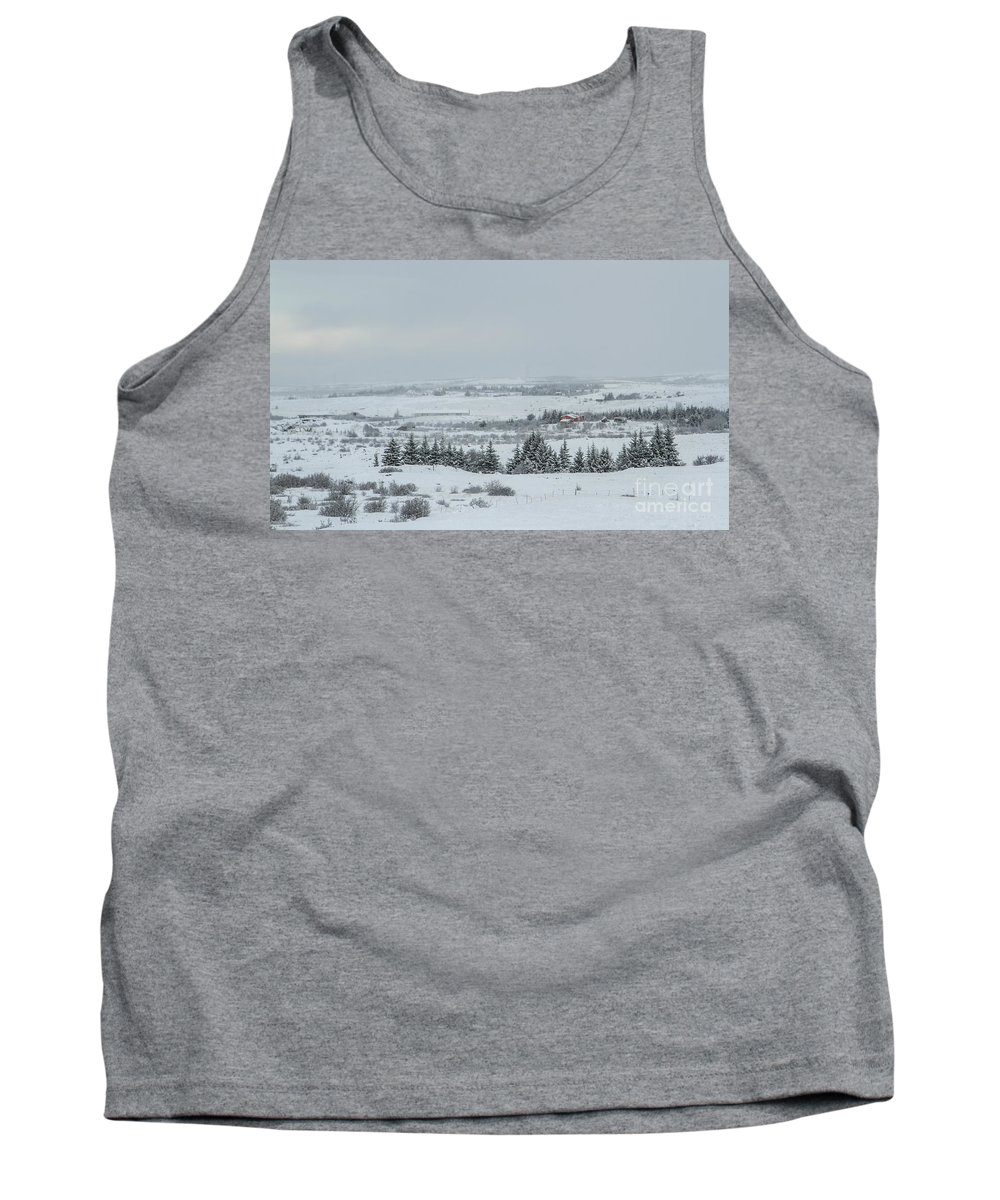 Iceland Tank Top featuring the photograph Cold Light by Evelina Kremsdorf